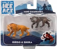 ice age continental drift diego shira mini figure 2 pack loose tpf