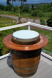 Wine Barrel Fire Pit Table by Fire Pits And Outdoor Spaces