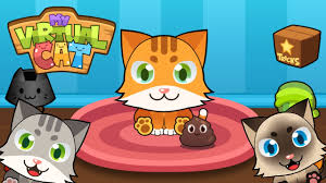 my virtual cat cute kids game for iphone and android youtube