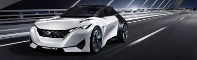 concept car of the peugeot concept cars showcasing future new car design and technology