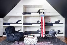 Wall Bunk Beds Wall Of Built In Bunk Beds Cottage Boy S Room