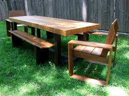 Atlanta Outdoor Furniture by Amazing Wooden Patio Table And Benches Furniture Atlanta Georgia