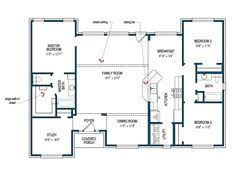 floor plan of the second floor of the hillsboro by tilson homes