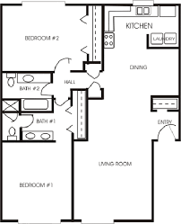 two bedroom two bath floor plans two bedroom bath house plans lofty design ideas 16 4 2 1 plans