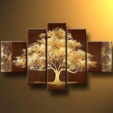 canvas painting for home decoration best wall decoration abstract golden tree oil painting on canvas
