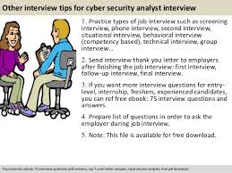 It Security Analyst Resume Sample by Cyber Security Analyst Interview Questions