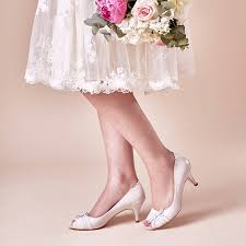 wedding shoes toe wedding shoes martha porcelain leather peep toe by