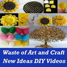 Art And Craft Designs And Ideas Waste Material Art And Craft Ideas With Video App Android Apps