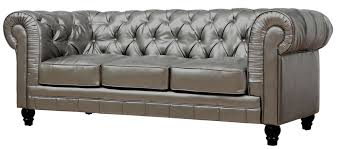 Grey Leather Tufted Sofa Furniture Home Brown Leather Tufted Sofa Loldev