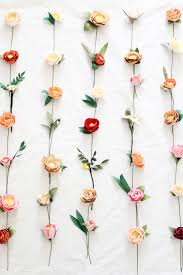 wall flowers paper flower wall handmade by