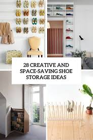 Shoe Shelves For Wall 28 Creative Shoe Storage Ideas That Won U0027t Take Much Space