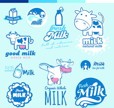 milk design creative milk labels with logos design vector free vector in