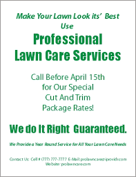 How To Do Business Cards Lawn Care Business Flyer