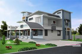 modern unique style villa design kerala home design and floor plans