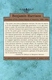 benjamin harrison the american presidents series the 23rd