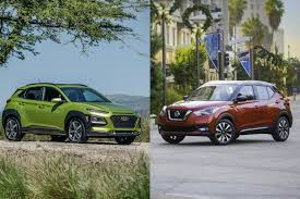nissan small sports car hyundai kona nissan kicks new small crossovers storm the market