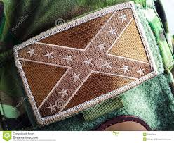 Uniform Flag Patch Confederate Flag Patch Stock Photo Image Of Embroidered 55897994