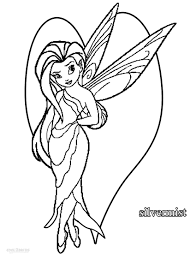 12 images of tinkerbell silver mist coloring pages disney
