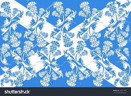 vector image flag scotland ornaments flowers stock vector