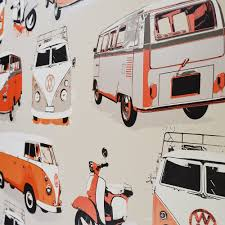 volkswagen van wallpaper vw camper van u0026 scooter wallpaper orange cream beige limited