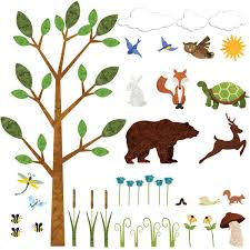 forest wall sticker set a image is loading forest wall sticker set a 034 37 peel