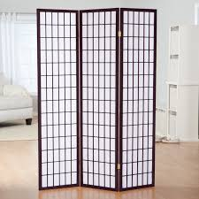 panel room divider black shoji 4 panel screen room divider with display shelves
