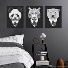 2017 modern vintage abstract black white mafia animals deer fox