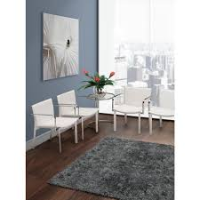 White Armless Office Chair Zuo Gekko White Leatherette Conference Office Chair Set Of 2