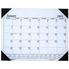 hod124 house of doolittle 2018 desk pad calendar 17 x 22