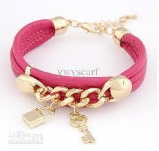 fashion bracelet images 2013 new fashion bracelet delicate lady 39 s bracelets key lock jpg