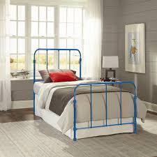 Blue Bed Frame Beds Headboards Bedroom Furniture The Home Depot