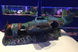 plane wreck ruin fish tank aquarium ornament