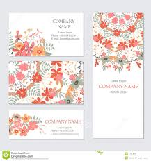 Invitation Cards Templates Set Of Business Or Invitation Cards Templates Corporate Identit