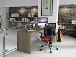 almond l shaped home office desk homeplaneur