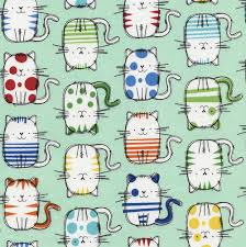 cute cat sketches on mint by timeless treasures cat c3645 mint