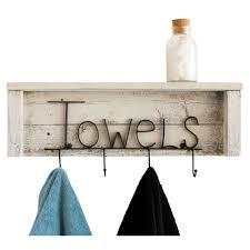 bathroom shelf with towel bar walnut finish drakestone designs