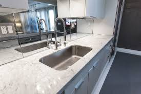 mirror backsplash kitchen excellent rectangle undermount sink with white marble countertop as
