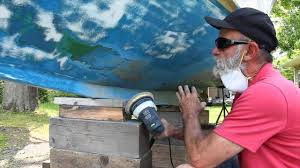 Painting Boat Interior Prepping Your Boat For Bottom Paint Youtube