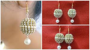 creative earrings how to make designer bridal silk thread earrings at home i