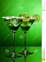 martini green sour green cocktails stock image image of cube sweet 30073475
