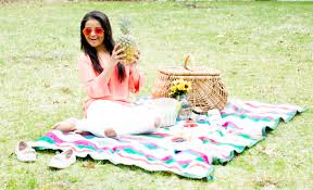 backyard picnic love playing dressup