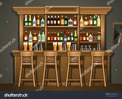 bar counter stock vector 183058367 shutterstock