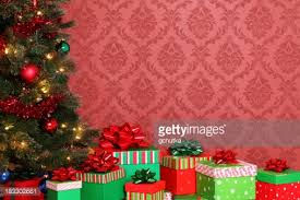 christmas tree and gifts on white stock photo getty images