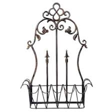 Wrought Iron Wall Planters by Wrought Iron Outdoor Accessories Garden Decor