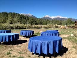 bright settings table linen rental bright star ranch wedding settings event rental