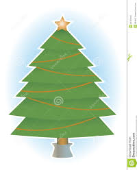 tree no ornaments and garland stock images image