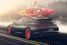 porsche panamera turbo red 2017 porsche panamera turbo shooting brake rendered hauls kayaks