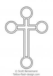 free cross tattoo drawings and templates