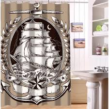 Nautical Anchor Shower Curtain Vintage Nautical Shower Curtain Home Decorating Interior Design