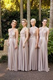 dress for bridesmaid chagne convertible floor length infinity dress multi